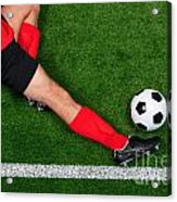 Overhead Football Player Sliding Acrylic Print