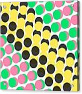 Overlayed Dots Acrylic Print by Louisa Knight