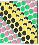 Overlayed Dots Acrylic Print