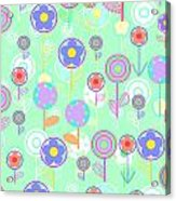 Overlayer Flowers  Acrylic Print