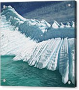 Overturned Iceberg With Eroded Edges Acrylic Print