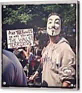 Ows Occupy Wall Street Acrylic Print