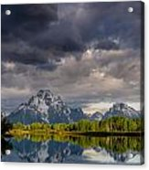 Oxbow Light And Clouds Acrylic Print