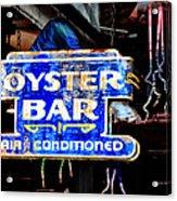 Oyster Bar Sign Acrylic Print