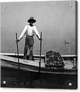 Oyster Fishing On The Chesapeake Bay - Maryland - C 1905 Acrylic Print