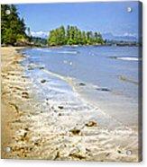 Pacific Ocean Coast On Vancouver Island Acrylic Print