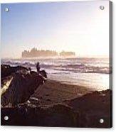 Pacific Ocean Sunsest Walk Acrylic Print by Christine Burdine