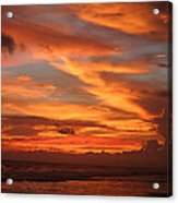 Pacific Sunset Costa Rica Acrylic Print