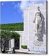 Pacific Theater War Memorial - Honolulu Acrylic Print