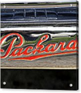 Packard Name Plate Acrylic Print