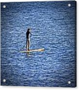 Paddle Boarding Acrylic Print