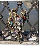 Padlocks On Bridge. Rome Acrylic Print