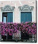 Padua Balcony And Window Boxes Acrylic Print