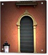 Padua Window And Lamp Light Padua Italy Acrylic Print