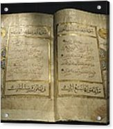 Pages Of A 13th Century Koran Acrylic Print