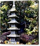 Pagoda Tower Of Zen Acrylic Print