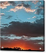 Pagosa Springs Colorado Sunset Acrylic Print