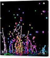 Paint Splatter Acrylic Print