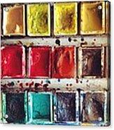 Paintbox Acrylic Print