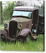 Painted 30's Chevy Truck Acrylic Print by Steve McKinzie
