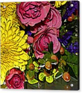 Painted Bouquet Acrylic Print