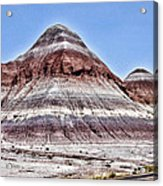 Painted Desert Mounds Acrylic Print