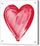Painted Heart - Symbol Of Love Acrylic Print