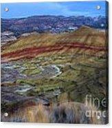 Painted Hills At Dusk Acrylic Print