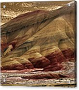 Painted Hills Grooves Acrylic Print
