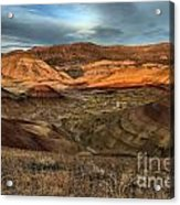 Painted Hills In The Fossil Beds Acrylic Print