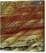 Painted Hills Lines Acrylic Print