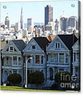 Painted Ladies Acrylic Print by Linda Woods