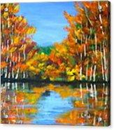 Painted Lake Acrylic Print