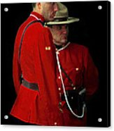 Painted Mounties Acrylic Print