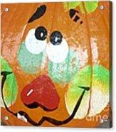 Painted Pumpkin 3 Acrylic Print