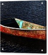 Painted Row Boat Acrylic Print