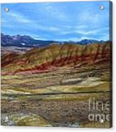 Painted Sky Over Painted Hills Acrylic Print