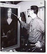 Painting A Portrait Acrylic Print