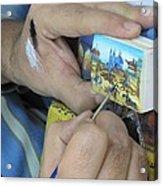 Painting Esfahan Acrylic Print by Tia Anderson-Esguerra