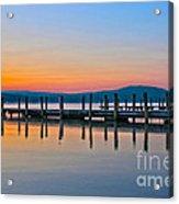 Painting On The Lake Acrylic Print