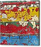 Painting Peeling Wall Acrylic Print by Garry Gay