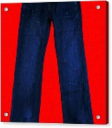 Pair Of Jeans 2 - Painterly Acrylic Print