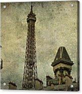 Pale Paris Acrylic Print by Georgia Fowler