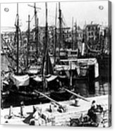 Palermo Sicily - Shipping Scene At The Harbor Acrylic Print