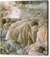 Palette Spring In Mammoth Hot Springs Acrylic Print