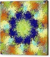 Pallet Of Colors Acrylic Print