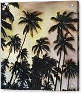 Palm Tree Sky Acrylic Print