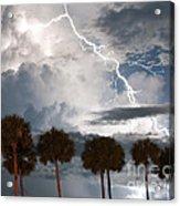 Palms And Lightning 3 Acrylic Print