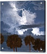 Palms And Lightning 4 Acrylic Print
