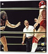 Pampero Firpo Vs Texas Red In Old School Wrestling From The Cow Palace  Acrylic Print